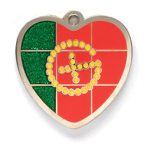 my geoheart geocoin portugal