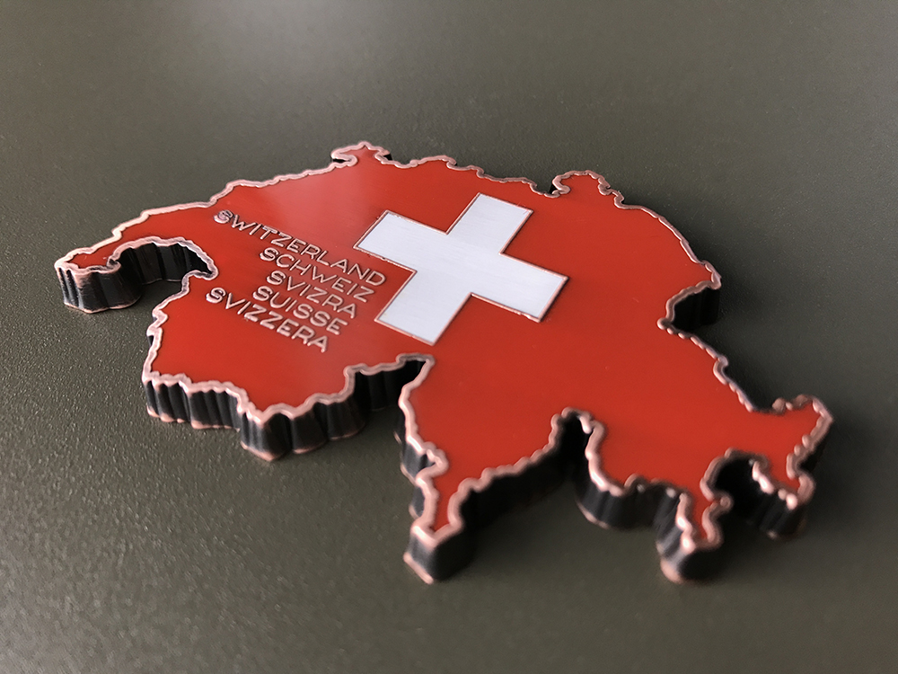 love switzerland geocoin as