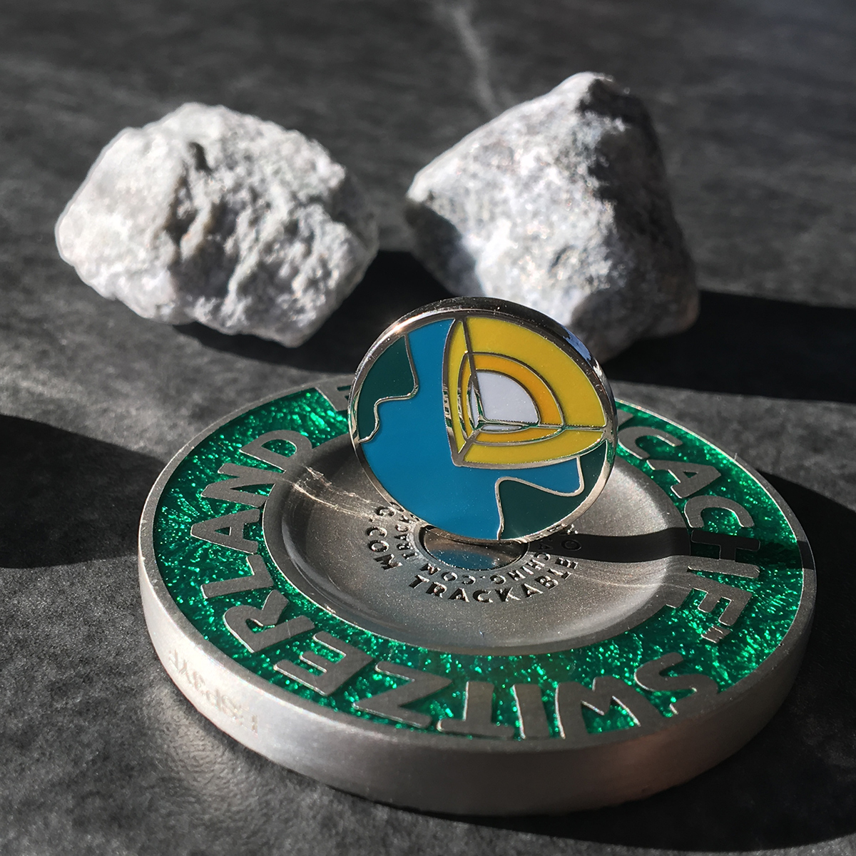 earthcache switzerland geocoin as