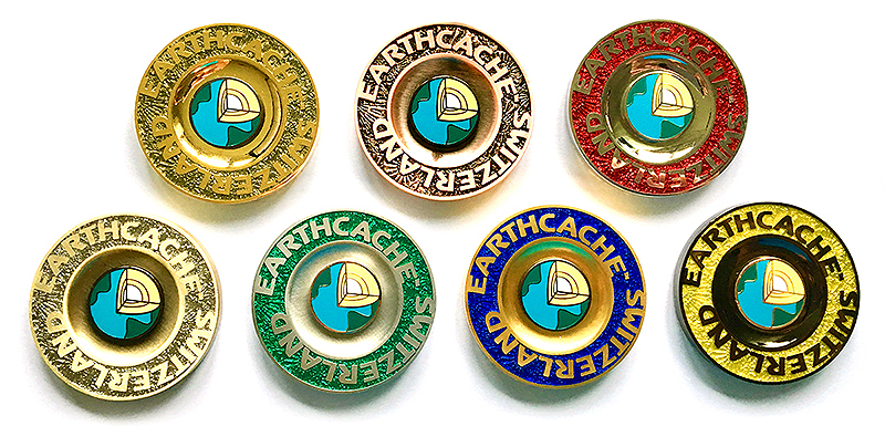 earthcache switzerland geocoins
