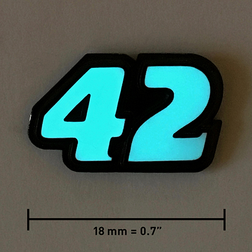42 lapel pin, bn, dark, night